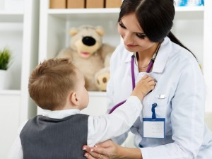 occupational therapist with child